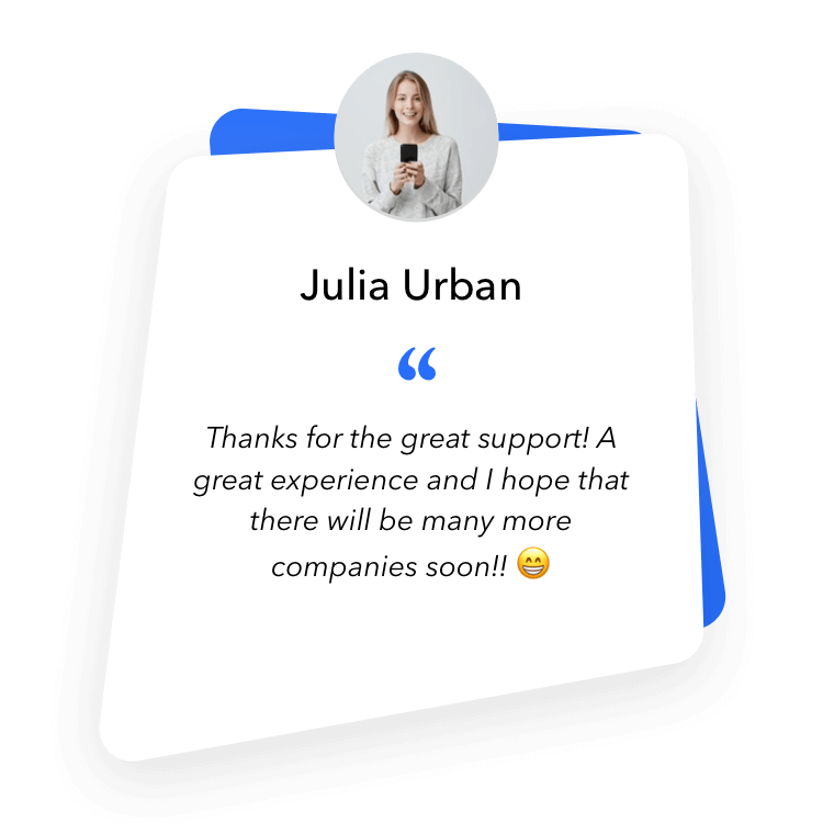Mobile Recruiting - Applicant Julia was particularly convinced by our great support