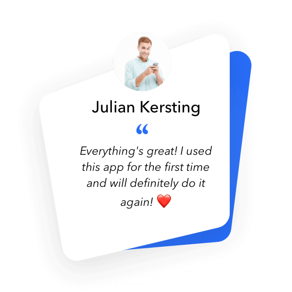 Mobile Recruiting - Applicant Julian was completely satisfied with the app