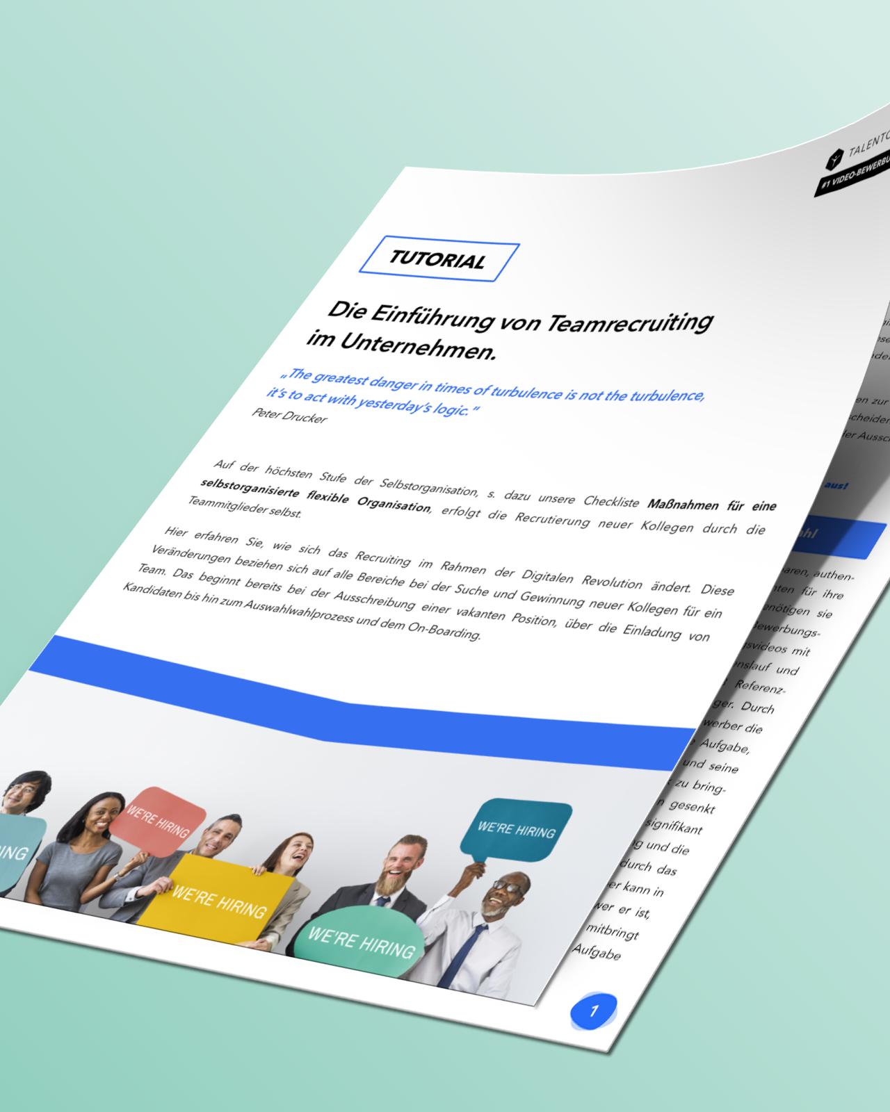 Tutorial: Die Einführung von Team Recruiting im Unternehmen